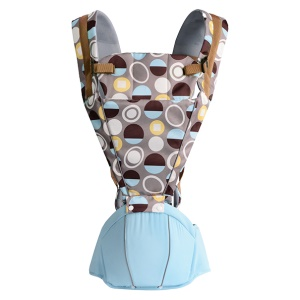 BABY LAB Circles Pattern Soft Structured Ergonomic Sling Baby Carrier Front and Back Baby Bag Pouch - Blue