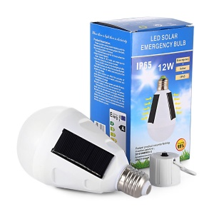 Portable Solar Panel Powered LED Bulb Emergency Lamps 12W