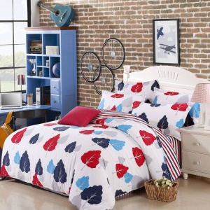 100% Cotton Twill Comforter Cover Quilt Duvet Cover, Size: 180 x 200cm - Grids & Polka Dots