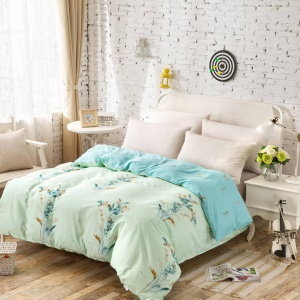 100% Cotton Printing Comforter Cover Quilt Duvet Cover, Size: 180 x 200cm - Lovely Cat
