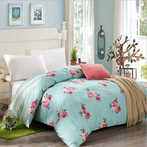 Pure Cotton Twill Comforter Cover Quilt Duvet Cover, Size: 180 x 200cm - Peonies