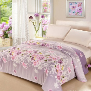 Pure Cotton Twill Comforter Cover Printed Quilt Duvet Cover, Size: 180 x 200cm - Blooming Flowers
