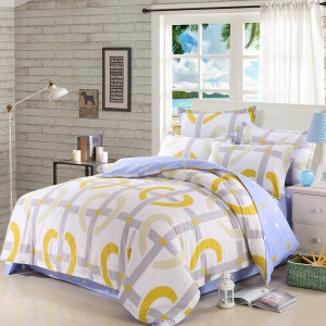 100% Cotton Bedding Comforter Cover Quilt Cover, Size: 180 x 220cm - Stripes and Circles