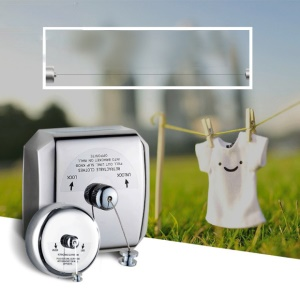 4m Retractable 304 Stainless Steel Clothesline Clothes Dryer for Hotel Balcony Bathroom etc
