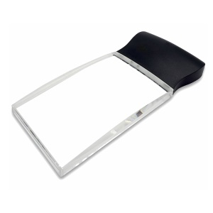 Large Rectangular 2X Handheld Magnifying Glass LED Light Magnifier Lens