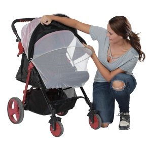 Baby Stroller Sun Shading Cloth Silver Baby Carriage Mosquito Net Protection Against Ultraviolet Ray Dust