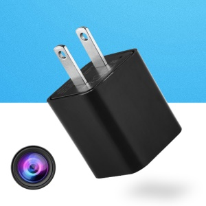 1080P HD Mini Spy Camera USB Wall Charger WiFi Camera Motion Detection Security Camera Charger - US Plug