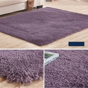 Soft Anti-skid Breathable Carpet Dining Bedroom Bathroom Rug, Size: 200 x 160cm - Dark Purple