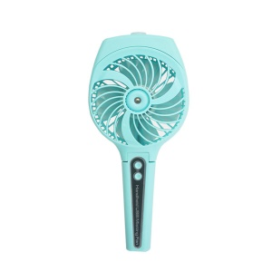 Handheld Fan Mini Portable USB Rechargeable Misting Cooling Fan with 3 Speeds - Blue