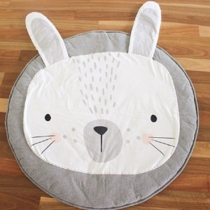 Animal Climbing Cotton Carpet Baby Play Mats Soft Sleeping Mat - Grey Rabbit