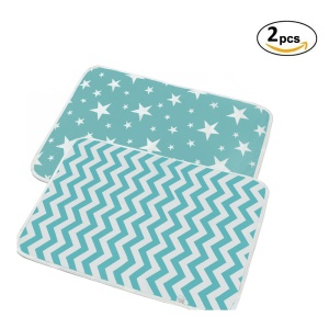 2Pcs Baby Nappy Cotton Diaper Changing Baby Waterproof Mattress Bed Sheet Infant Change Mat Cover