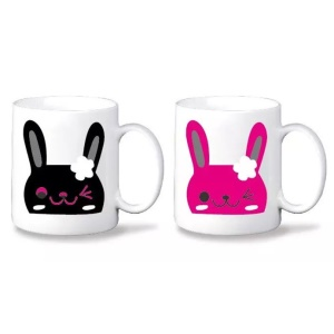 Color Changing Coffee Tea Mug Ceramic Cup with Handle - Rabbit