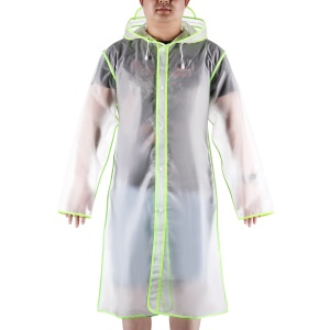 Outdoor Transparent EVA Rainwear Long Adult Wrapping Edge Mackintosh - Green / XL Size