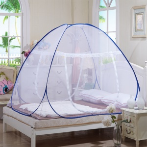 Double Door Gauze Bottom Student Yurt Net Free Installation, Size: 180x200x150cm