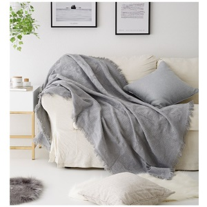 Solid Color Knitted Plaid Blanket Two-seater Tablecloth Furniture Sofa Cover Anti-slip Slipcover, Size: 180 x 230cm