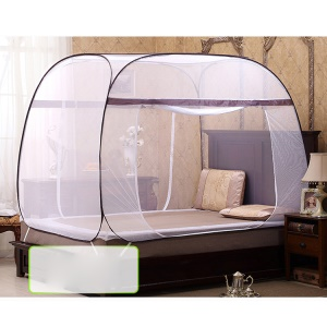 Square-roofed Mongolia Yurt Bed Mosquito Net Double Door 180 x 200 x 160cm