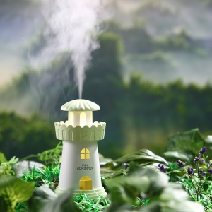 Mini Lighthouse 150ml Air Purifier Humidifier with Night Lamp - Green