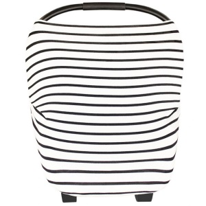 Multi-funtion Nursing Cover Scarf Baby Car Seat Canopy for Breastfeeding Moms - Pinstripes