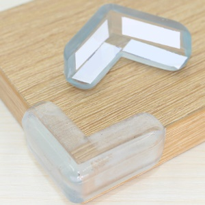 10PCS L-Em forma + Bola 10PCS-Shaped Baby Safety Clear Furniture Corner Guards Corner Protector with 3M Adhesive