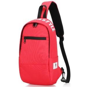Horizontal Zipper / Red