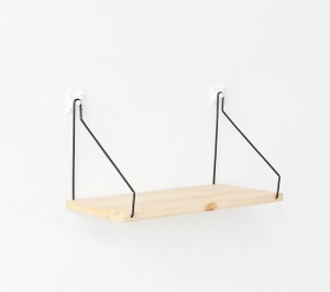 Wood Wall Holder Rack Wall Shelf Wooden Partition Kitchen Wall Frame Hanging - White Birch / Size: S