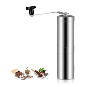 Stainless Steel Manual Coffee Grinder Portable Pepper Conical Burr Mill