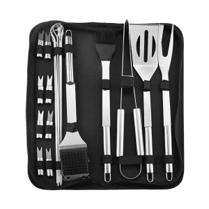 20PCS Stainless Steel BBQ Barbecue Tool Set with Portable Oxford Cloth Bag