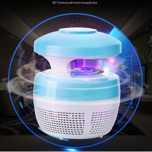 USB Mushroom Insect Mosquito Killer Indoor Mosquito Trap Inhaled LED Lamp - Blue