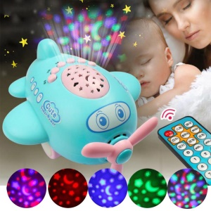 Appease Aircraft Projection Sleeping Story Projector Night Light Lamp with Remote Control