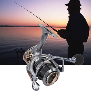 DEUKIO HS5000 6.7:1 5+1BB Spinning Fishing Reel Shallow Spool