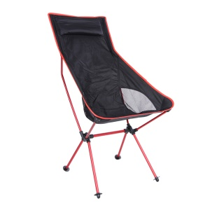Lightweight Foldable Outdoor Chair Comfortable Outdoor Folding Backpacking Chair - Red