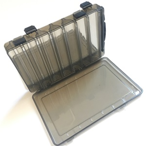 Double-layer Lure Fishing Gear Box Double-sided Fishing Organizer - Grey / Size: L