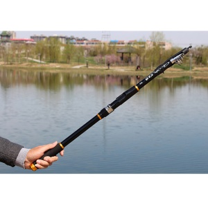 3.6M Telescopic Fishing Rod + Reel Combos Fishing Pole Set Saltwater Freshwater Kit - Black