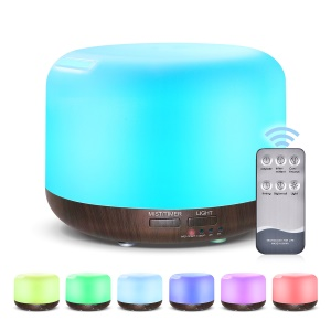 300ML LED Humidifier Aroma Essential Diffuser 7 Colors Adjustable Humidifier - UK Plug