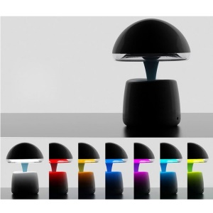 Creative Multifunctional Bluetooth Desk Lamp with Speaker and FM - Black