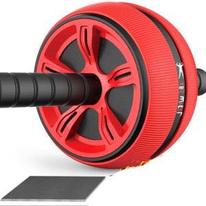 Exercise Wheel ABS Abdominal Gym Fitness Machine Body Strength Training Roller - Red