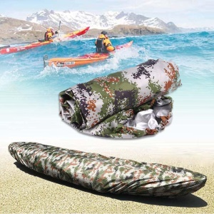 Universal Camouflage Kayak Canoe Boat Cover Waterproof UV Resistant Anti-Dust Cover Shield for 4.6-5m Boats