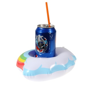 Cloud Shaped Summer Swimming Floating Drink Coasters Inflatable Drink Mat Cup Holder for Pool Party Water Fun