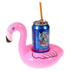 Flamingo Pattern Inflatable Drink Holder Floating Cup Coasters for Pool Party
