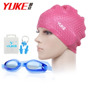 Rose Red Hat / Blue Goggle