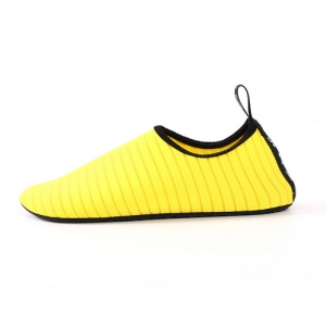 Water Socks Durable Aqua Barefoot Shoes Beach Pool Swimming Snorkeling Shoes - Yellow, Size: 38