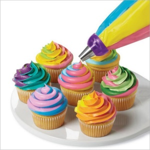 Cake Cooking 3-Color Icing Piping Bag Convertisseur de buse Coupler Cake Decoring Tool