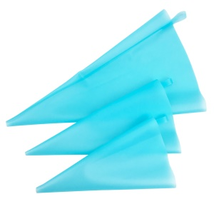 12Pcs/Set Reusable Cake Icing Decorating Piping Bags Silicone Pastry Bag Set for Baking Supplies - Blue