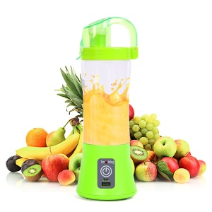 Portable Mini Blender Juicer Extractor Fruit Mixing Machine with USB Charger Cable - Green