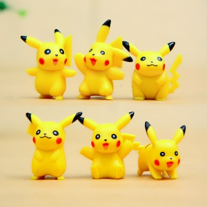6Pcs/set Pokemon Go Pikachu Doll with Various Poses
