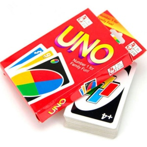 UNO Standard 108 Fun Cards Game for Family Friend Travel Playing Card and Instruction
