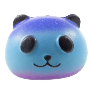 PU Stress Relief Starry Panda à pression réduite Toy Squishy