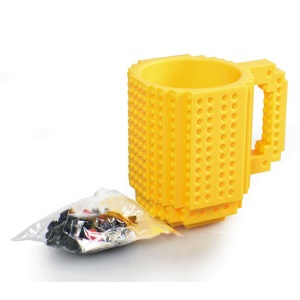 Creativo Fai Da Te Blocco Puzzle Tazza Drinkware Building Blocks Home Decor - Giallo