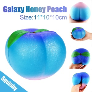 Galaxy Honey Peach Squishy Slow Rebound Soft Squeeze Toy 10cm for Stress Relief