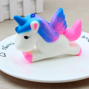 Lovely Unicorn PU Stress Relief Toy Reduced Pressure Squishy Toy - Blue / Rose